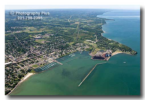 Aerial Photo Of Dunkirk New York On The Shores Of Lake