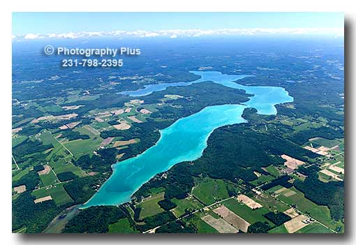 Aerial Photo Of Walloon Lake In Northern Michigan Viewed