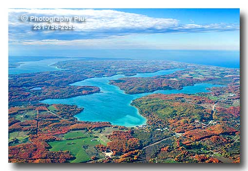 Aerial Photo Of Walloon Lake In Northern Michigan In The
