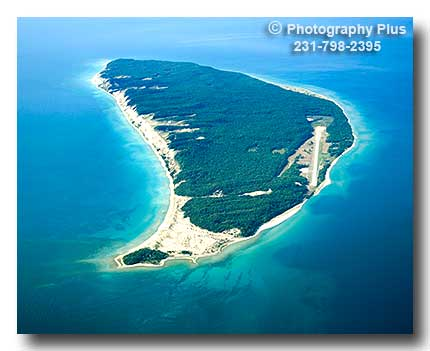 Aerial Photo Of South Fox Island In Northern Lake Michigan
