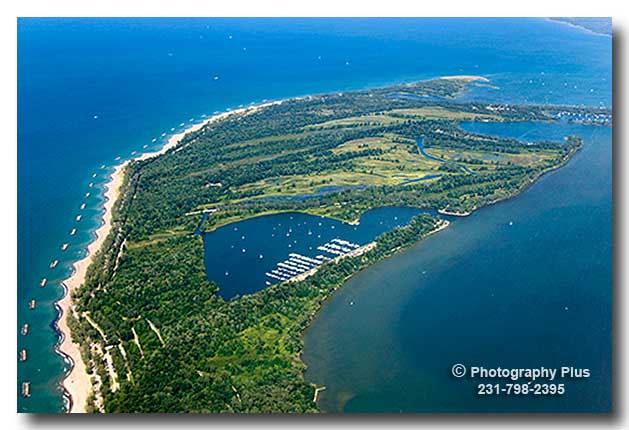 Aerial Photo Of The Presque Isle Penninsula And State Park
