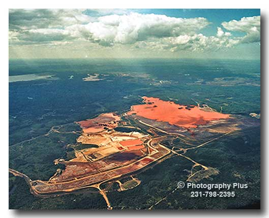 Aerial Photo Of The Empire Iron Mine And Lake Gribben In