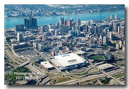 Detroit Stadiums & Skyline