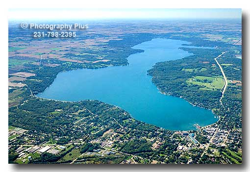 Aerial Photo Of Lake Geneva Wisconsin From East To West