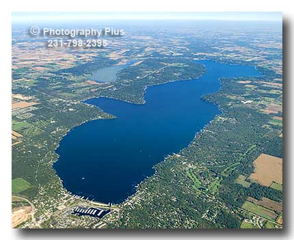 Aerial Photo Of Lake Geneva Wisconsin From West To East