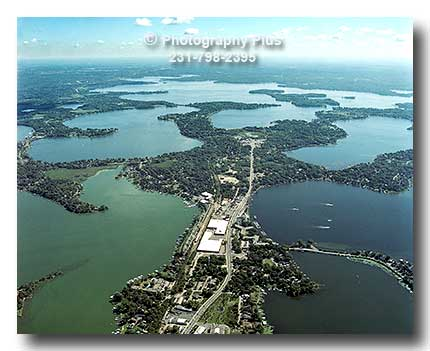 Aerial Photo Looking East Accross Spring Park In Lake