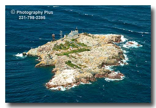 Aerial Photo Of The Granite Island Lighthouse Located In